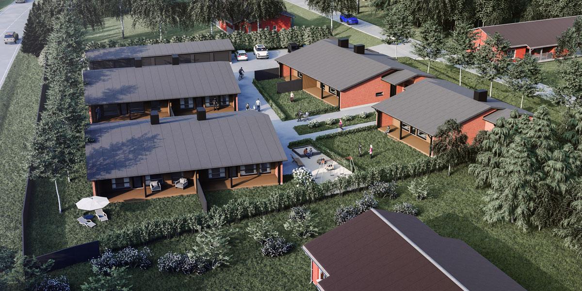 Oulunsalon myytävät asunnot on suunniteltu järkeviksi kokonaisuuksiksi