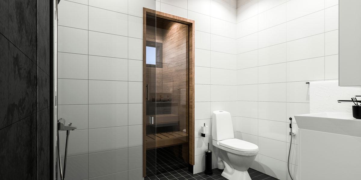 Myytävät asunnot Oulunsalo, Rakennus-Hanka tekee laadukkaat kylpyhuoneet
