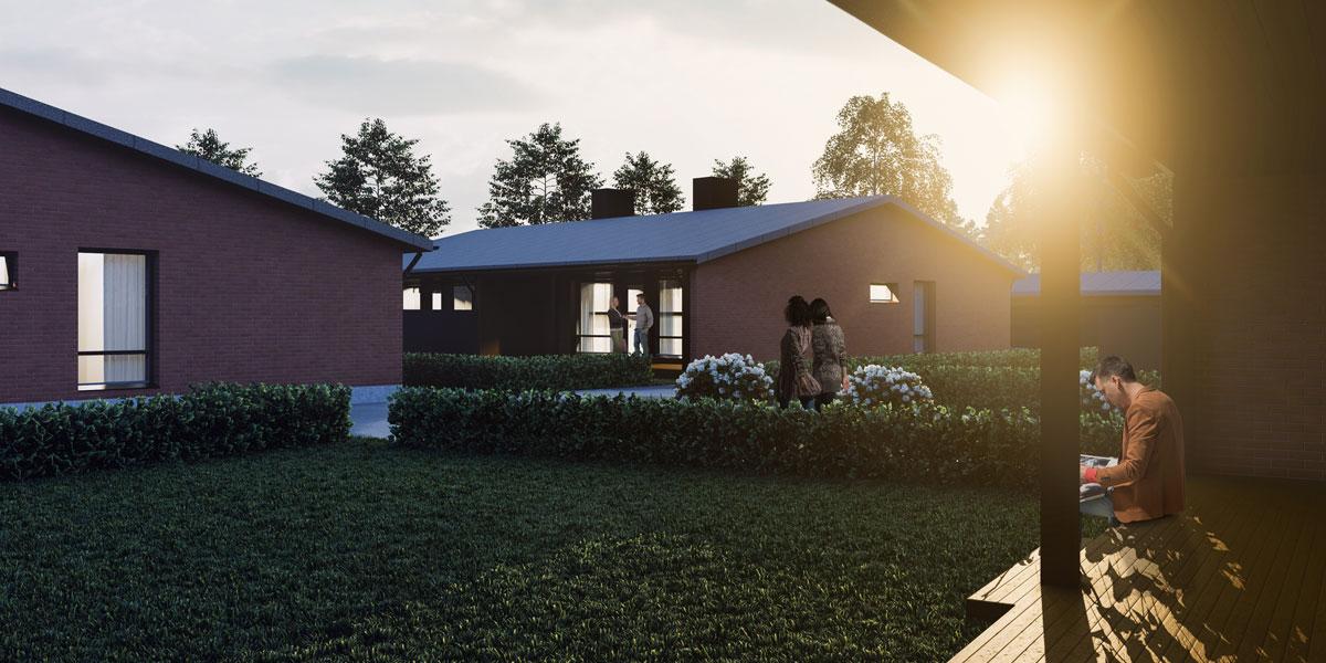 Myytävät asunnot on valmistettu paikanpäällä rakentaen laadusta tinkimättä